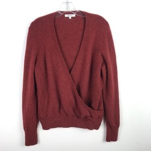 Madewell Wrap Front Sweater Coziest Yarn #68